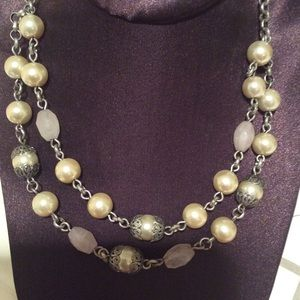 American Eagle Double strand Pearl necklace